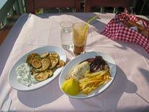 Griechische Küche Lizenzfreies Stockfoto