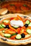Griechische Küche - ländlicher Salat Lizenzfreie Stockfotografie