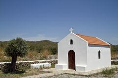 Griechische Kapelle Lizenzfreies Stockfoto