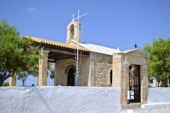 Griechische Kapelle in Aegina-Insel Stockbild