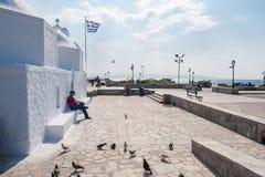 Griechische Kapelle bei Aegina Lizenzfreies Stockbild