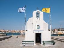 Griechische Kapelle bei Aegina Stockfotografie