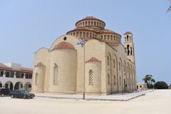 Griechische Kirche Insel von Zypern stockbild