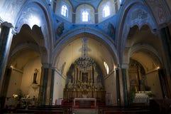 Griechische Kirche, nach innen Lizenzfreie Stockfotos