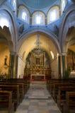 Griechische Kirche, nach innen Lizenzfreies Stockbild