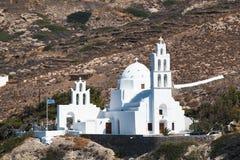 Griechische Kirche zwei Stockfoto