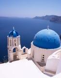 Griechische Kirchen stockfotografie
