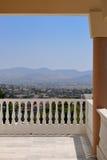 Griechische Kirchen der Terrasse Stockbilder