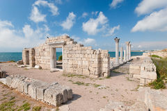 Griechische Kolonie Stockfotos