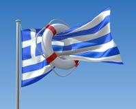 Griechische Krise lizenzfreie abbildung