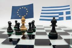 Griechische Krise Stockbild