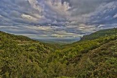 Griechische Landschaft Macchia Stockfoto