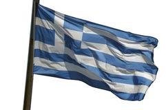Griechische Markierungsfahne Lizenzfreie Stockfotografie