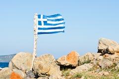 Griechische Markierungsfahne Lizenzfreie Stockbilder