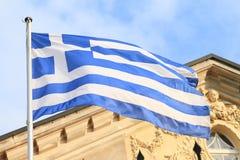 Griechische Markierungsfahne Lizenzfreie Stockfotos