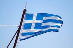 Griechische Markierungsfahne Stockfoto