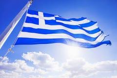 Griechische Markierungsfahne stockbilder