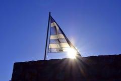 Griechische Markierungsfahne stockfotografie