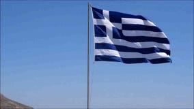 Griechische Markierungsfahne stock video footage