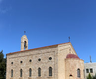 Griechische orthodoxe Basilika von St George in der Stadt Madaba, Jordanien Stockfotos