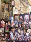 Griechische orthodoxe Ikonen Stockfoto