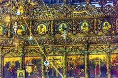Griechische orthodoxe Ikonen-Kirchen-Geburt Christi Bethlehem Palästina Lizenzfreies Stockbild