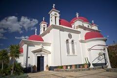 Griechische orthodoxe Kirche Capernaum Stockbilder