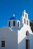 Griechische orthodoxe Kirche in Santorini, Griechenland Stockfotos