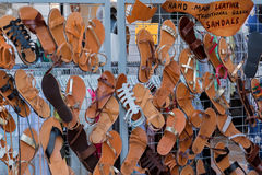 Griechische Sandalen Stockbild