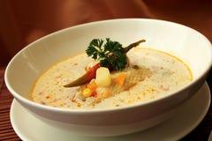 Griechische saure Suppe Lizenzfreies Stockfoto