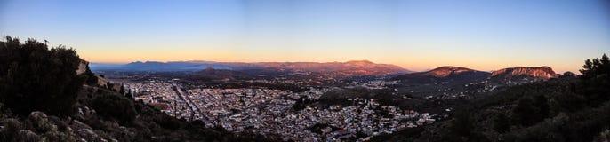 Griechische Skyline Stockfotografie