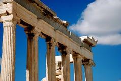 Griechische Spalten Stockfoto