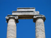 Griechische Spalten Lizenzfreies Stockfoto