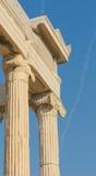 Griechische Spalten, Akropolis, Athen Lizenzfreie Stockfotografie