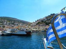 Griechische Stadt lizenzfreie stockfotografie