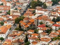 Griechische Stadt Stockfotografie