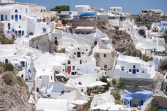 Griechische Stadt Oia Stockbilder
