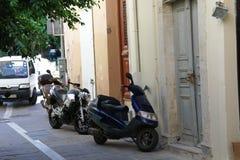 Griechische Straße Stockfotografie