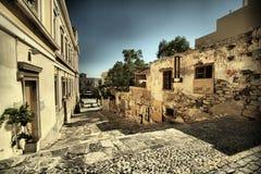 Griechische Straße Stockfotos