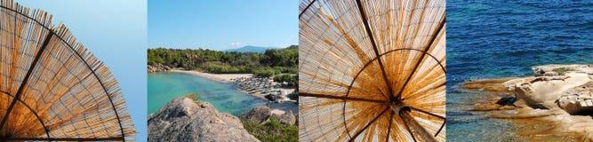 Griechische Strandcollage Stockbilder