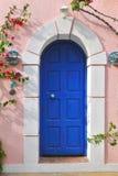 Griechische Tür Stockbild