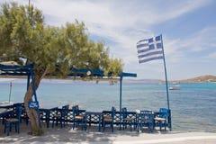 Griechische Taverne Stockfotografie