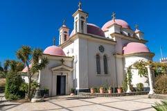 Griechische Tempel-Kathedrale der zwölf Apostel stockfoto