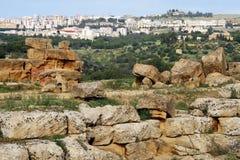 Griechische Tempelruinen stockbild