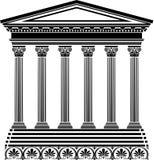 Griechische Tempelschablone Stockbilder