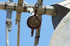 Griechische Windmühle Stockfoto