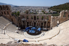 Griechischer Amphitheatre Lizenzfreies Stockfoto