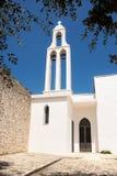 Griechischer ArtGlockenturm an der Kirche unserer Dame von Iberia in Ci Lizenzfreie Stockfotos