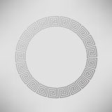 Griechischer dekorativer Kreis-Rahmen Stockbild