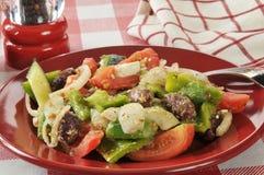 Griechischer Gemüsesalat Stockfotos